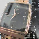 UNUSUAL SQUARE BLACK DIAL PULSAR DATE QUARTZ WATCH RUNS