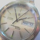v BIG RARE CYMA STRATOQUARTZ 2000 DD WATCH RUNS