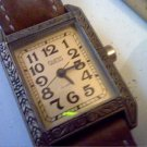 VINTAGE 1989 LADIES SQUARE CASE GUESS QUARTZ WATCH RUNS