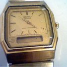 VINTAGE SEIKO H601-5219 LCD ANALOG ALARM WATCH 4U2FIX