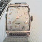 VINTAGE ELGIN DELUXE 558 SQUARE WATCH RUNS 4U2FIX