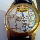 UNIQUE CHIPPEWA FALLS DIAL QUARTZ WATCH RUNS