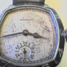 RARE ART DECO BLUE BEZEL WALTHAM CUSHION WATCH 4U2FIX