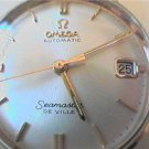 14KT TOP 24J OMEGA SEAMASTER DEVILLE DATE WATCH 4U2FIX