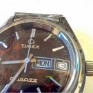 VINTAGE 1977 UNUSUAL BURGUNDY REDISH DIAL TIMEX 4U2FIX