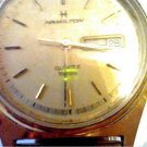 HAMILTON QUARTZ DAY DATE WATCH RUNS 4U2FIX STEM CROWN