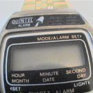OLD QUINTEL LCD ALARM CHRONO WATCH 4FIX