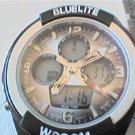 BLUELITE DUAL LCD ANALOG QUARTZ WATCH RUNS
