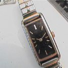 UNUSUAL SQUARE BLACK DIAL LADIES SEIKO QUARTZ WATCH RUN