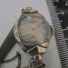 VINTAGE 10KTGF WITTNAUER LADIES COCKTAIL WATCH RUNS