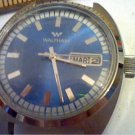 VINTAGE BLUE DIAL DAY DATE WALTHAM AUTO WATCH 4U2FIX