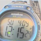 TIMEX IRONMAN 30 LAP MEMORY LCD QUARTZ WATCH RUNS