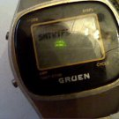 VINTAGE GRUEN LCD DATE WATCH 4U2FIX AND MISSING BACK