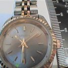 UNIQUE 2 TONE CASE GREY GRUEN LADIES QUARTZ WATCH RUNS