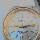 YELLOW GRUEN PRECISION SWISS PARTS LADIES QUARTZ WATCH