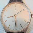 UNUSUAL CROWN HELBROS QUARTZ WATCH RUNS