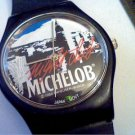 VINTAGE 1988 MICHELOB NIGHT CLUB QUARTZ WATCH RUNS 4FIX