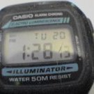 RARE CASIO ILLUMINATOR W86 ALARM CHRONO WATCH RUNS