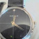 VINTAGE STONE BLACK DIAL CARAVELLE MENS WATCH RUNS FAST