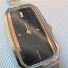 black dial square case ladies pulsar watch runs
