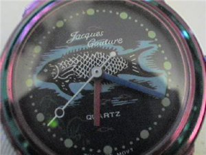 interesting fish dial jack couture quartz watch runs