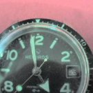 RARE VINTAGE BLACK DIAL HELBROS INVINCIBLE DATE WATCH RUNS SLOW 4U2FIX