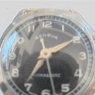 BLACK DIAL GENOVA SWISS ANTIMAGNETIC WINDUP WATCH RUNS