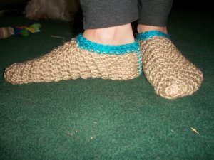 Unisex Sock Slippers in Blue