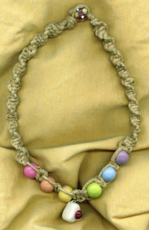 Pastel Rice Ball Necklace