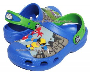 Kids Boys Marvel Super Hero Squad Blue Sandals Shoes US Size 6c7 8c9 10c11 12c13