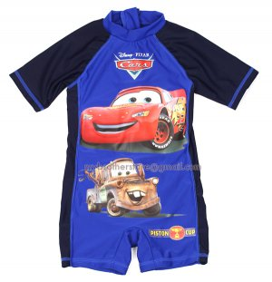 Kids Boys Disney Cars Mcqueen & Mater One-Piece Sunsafe Swimsuit Costume 3-8 Years Swimwear Surf