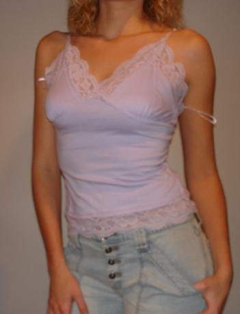NEW Lavender purple lacey cami strappy tank top (S, L)
