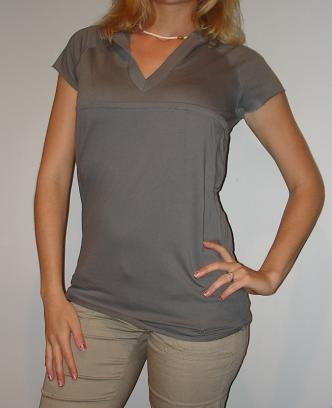 NWT CHARLOTTE RUSSE grey gray hoodie long tunic shirt (sz S)