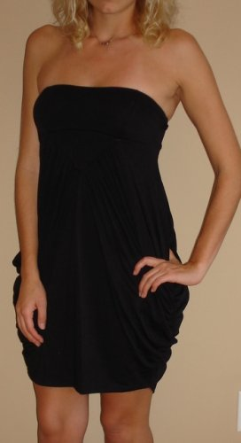 NWT CHARLOTTE RUSSE black strapless short dress sz S
