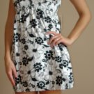 NWT DEREK HEART black white satiny floral tank dress S, M