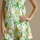 NWT PLANET GOLD green white yellow retro tank dress XS, S, M
