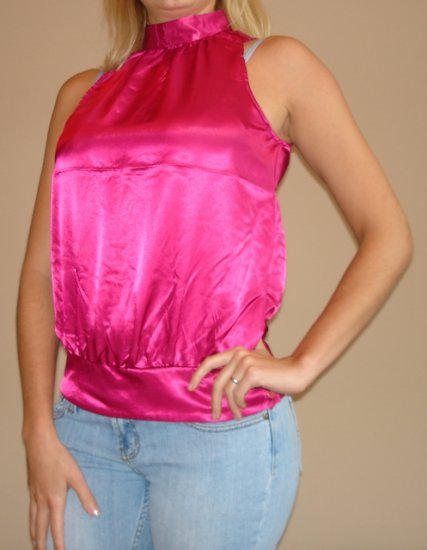 NWT FOREVER 21 hot pink satiny sleeveless tank top sz S M L