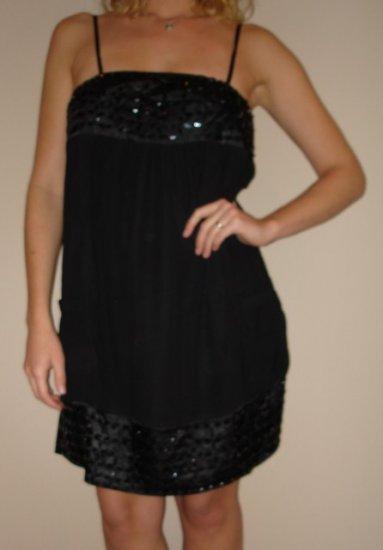 NWT CHARLOTTE RUSSE black beaded bubble mini dress sz S, M