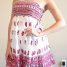 NWT FOREVER 21 white purple red strapless sun dress S, M, L