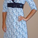 NWT NO BOUNDARIES blue black belted dress sz S