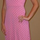 NEW VOILA pink polka dot retro halter dress sz S M
