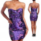 NEW KUDU purple pink strapless sweetheart dress S M L