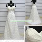Free Shipping Hot Sale A-line Strapless White Organza Lace Beaded Wedding Dress Bridal Gown S45