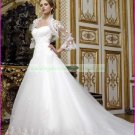 Free Shipping  Strapless White Organza Bridal Gown Applique Beaded Wedding Dress With Jacket L03