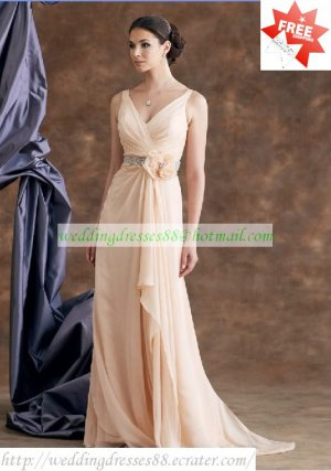 Free Shipping Double Straps Pink Chiffon Ruffled Beaded the Mother of  Bridal Dress With Shawl 1(3)