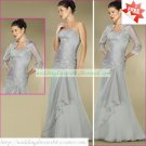 Free Shipping 3/4 Sleeves Jacet Gray Chiffon Applique Beaded the Mother of  Bridal Dress 1(31)