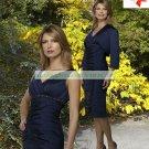 Free Shipping 3/4 Sleeves Jacet Blue Taffeta Ruffled Beaded the Mother of  Bridal Dress 1(54)