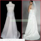 2011 Free Shipping Halter White Chiffon Empire Maternity Bridal Gown Applique Beaded Wedding Dress
