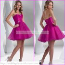 2012 Hot Sale Strapless Red Organza Beaded Cocktail Dress Homecoming Dress Graduation Dress C002