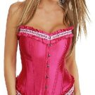 Sexy Lingerie Floral Brocade Overbust Corset Sweetheart with Lace Up Back  Bodysuits S19